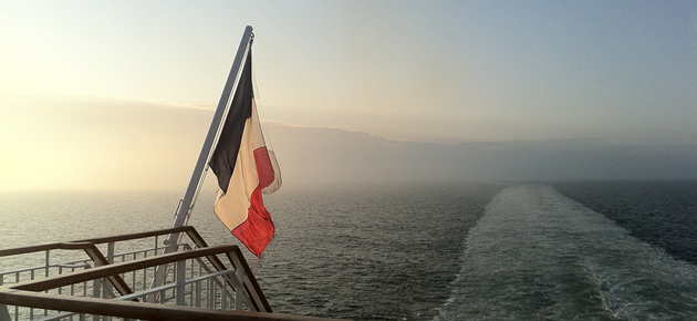 Ferry to Normandy in France