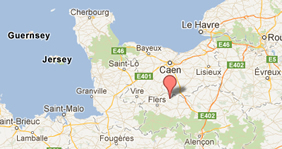 Normandy Holiday Cottage Location
